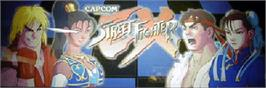 Arcade Cabinet Marquee for Street Fighter EX.