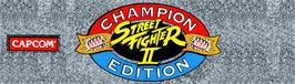 Arcade Cabinet Marquee for Street Fighter II': Champion Edition.