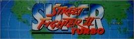 Arcade Cabinet Marquee for Street Fighter II' Turbo: Hyper Fighting.