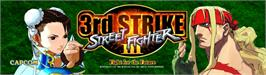 Arcade Cabinet Marquee for Street Fighter III: New Generation.