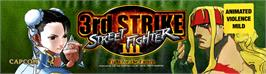 Arcade Cabinet Marquee for Street Fighter III 3rd Strike: Fight for the Future.