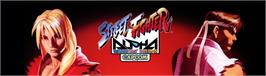 Arcade Cabinet Marquee for Street Fighter Zero.