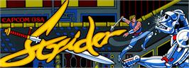 Arcade Cabinet Marquee for Strider.