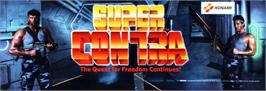 Arcade Cabinet Marquee for Super Contra.