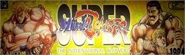 Arcade Cabinet Marquee for Super Muscle Bomber: The International Blowout.