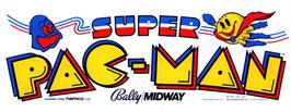 Arcade Cabinet Marquee for Super Pac-Man.