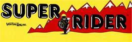 Arcade Cabinet Marquee for Super Rider.