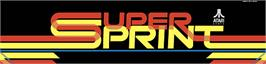 Arcade Cabinet Marquee for Super Sprint.