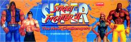 Arcade Cabinet Marquee for Super Street Fighter II: The Tournament Battle.