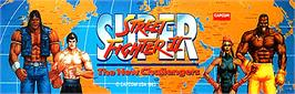Arcade Cabinet Marquee for Super Street Fighter II - The New Challengers.