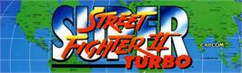 Arcade Cabinet Marquee for Super Street Fighter II Turbo.