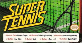 Arcade Cabinet Marquee for Super Tennis.