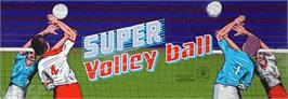Arcade Cabinet Marquee for Super Volleyball.