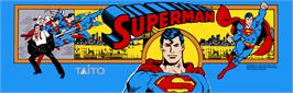 Arcade Cabinet Marquee for Superman.
