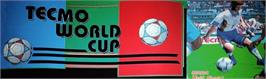 Arcade Cabinet Marquee for Tecmo World Cup '98.