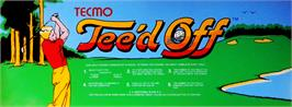 Arcade Cabinet Marquee for Tee'd Off.