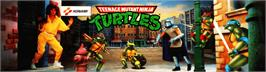 Arcade Cabinet Marquee for Teenage Mutant Hero Turtles.