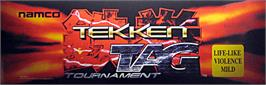 Arcade Cabinet Marquee for Tekken Tag Tournament.