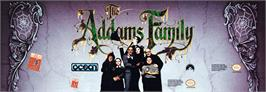 Arcade Cabinet Marquee for The Addams Family.