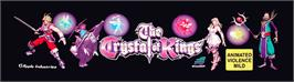 Arcade Cabinet Marquee for The Crystal of Kings.