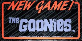 Arcade Cabinet Marquee for The Goonies.