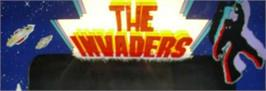 Arcade Cabinet Marquee for The Invaders.