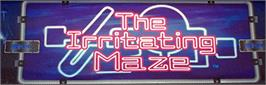 Arcade Cabinet Marquee for The Irritating Maze / Ultra Denryu Iraira Bou.
