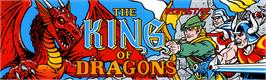 Arcade Cabinet Marquee for The King of Dragons.