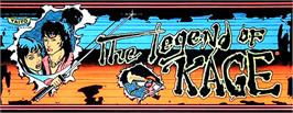 Arcade Cabinet Marquee for The Legend of Kage.