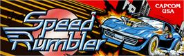 Arcade Cabinet Marquee for The Speed Rumbler.