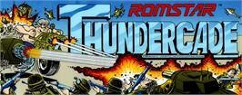 Arcade Cabinet Marquee for Thundercade / Twin Formation.