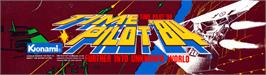 Arcade Cabinet Marquee for Time Pilot '84.