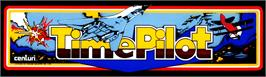 Arcade Cabinet Marquee for Time Pilot.