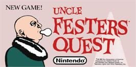 Arcade Cabinet Marquee for Uncle Fester's Quest: The Addams Family.
