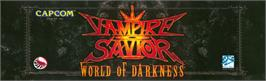 Arcade Cabinet Marquee for Vampire Savior: The Lord of Vampire.