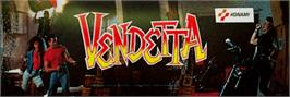 Arcade Cabinet Marquee for Vendetta.