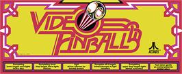 Arcade Cabinet Marquee for Video Pinball.