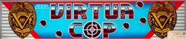Arcade Cabinet Marquee for Virtua Cop.