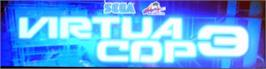 Arcade Cabinet Marquee for Virtua Cop 3.