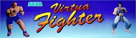 Arcade Cabinet Marquee for Virtua Fighter.