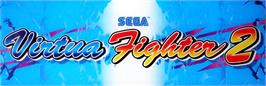 Arcade Cabinet Marquee for Virtua Fighter 2.