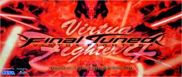 Arcade Cabinet Marquee for Virtua Fighter 4 Final Tuned.