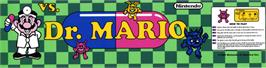 Arcade Cabinet Marquee for Vs. Dr. Mario.