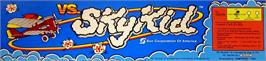 Arcade Cabinet Marquee for Vs. Super SkyKid.