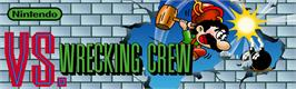 Arcade Cabinet Marquee for Vs. Wrecking Crew.