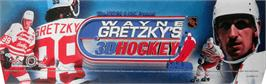 Arcade Cabinet Marquee for Wayne Gretzky's 3D Hockey.