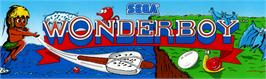 Arcade Cabinet Marquee for Wonder Boy Deluxe.