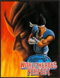 Arcade Cabinet Marquee for World Heroes Perfect.