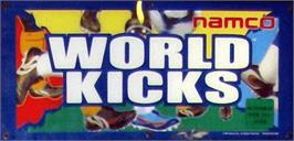 Arcade Cabinet Marquee for World Kicks.