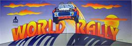 Arcade Cabinet Marquee for World Rally.